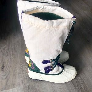 SOREL • Vintage White Tall Waterproof Snow Boots